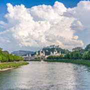Dramatic Clouds Over Salzburg Art Print