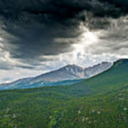 Dramatic Skies In Rocky Mountain National Park Colorado Art Print