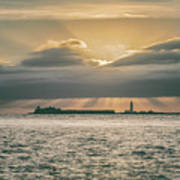 Dramatic Sky Over Hurst Castle Art Print