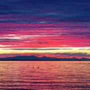 Dramatic Sunset Colors Over Birch Bay Art Print