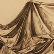 Draped Fabric Art Print