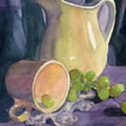 Drapes And Grapes Art Print