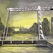 Draw Bridge In Meppel, Holland 2016 Art Print