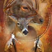 Dream Catcher - Autumn Deer Art Print