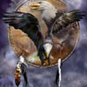 Dream Catcher - Spirit Eagle 3 Art Print