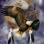 Dream Catcher - Spirit Eagle Art Print