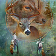 Dream Catcher - Spirit Of The Deer Art Print
