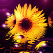 Dreams 4 - Sunflower Art Print