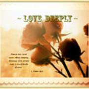 Dreams In Roses - Vintage - Verse Art Print