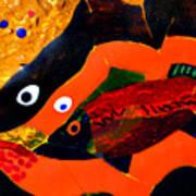 Dreamtime Barramundi Detail Art Print