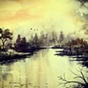 Dreamy Lake Art Print