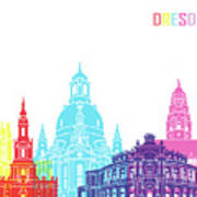 Dresden Skyline Pop Art Print