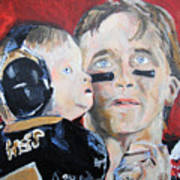 Drew Brees And Son  Art Print