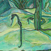 Drifting Seahorse Art Print