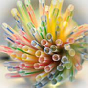 Drinking Straws  Art Print