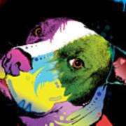 Dripful Pitbull Art Print