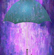 Dripping Poster Purple Rain Art Print