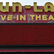 Drive Inn Theatre Art Print