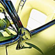 Driver's Seat -- 1958 Chevrolet Corvette At The Golden State Classic Car Show, Paso Robles Ca Art Print