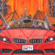 Driving Like Bats Out Of Hell Art Print