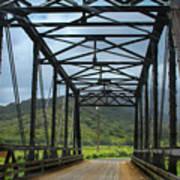 Driving Over Hanalei Bridge Art Print