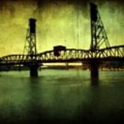 Driving Over The Bridge Art Print