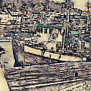 Drobak Harbor Art Print