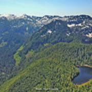 Drone Shot Of Lake Evan Art Print