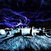 Druid's Circle, Night Art Print