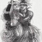 Drum Dance Pas-de-deux Art Print
