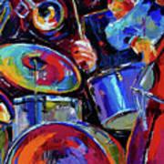 Drums And Friends Print by Debra Hurd