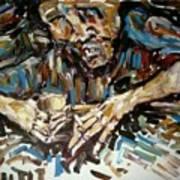 Drunk Inspired By Egon Schiele Art Print