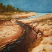 Dry River Bed Art Print