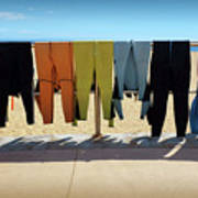 Drying Wet Suits Art Print