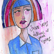 Dubious Jane Art Print