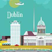 Dublin Ireland Vertical Scene Art Print