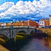 Dublin's Fairytales Around Grattan Bridge 2 Art Print