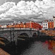 Dublin's Fairytales Around Grattan Bridge 2 V3 Art Print