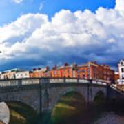 Dublin's Fairytales Around Grattan Bridge V2 Art Print
