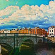 Dublin's Fairytales Around  River Liffey V4 Art Print