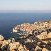 Dubrovnik And The Adriatic Coast In Croatia Art Print