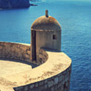 Dubrovnik Fortress Wall Tower Art Print