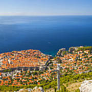 Dubrovnik From Above Panorama Art Print