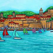 Dubrovnik Regatta Art Print