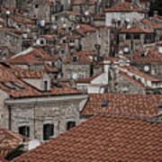 Dubrovnik Rooftops #3 Art Print