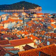 Dubrovnik Rooftops Art Print