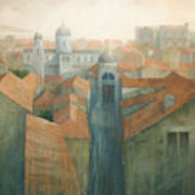 Dubrovnik Rooftops Print by Steve Mitchell