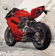 Ducati 1199 Panigale Art Print