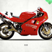 Ducati 888 Art Print