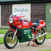 Ducati 900cc Mike Hailwood Replica Poster